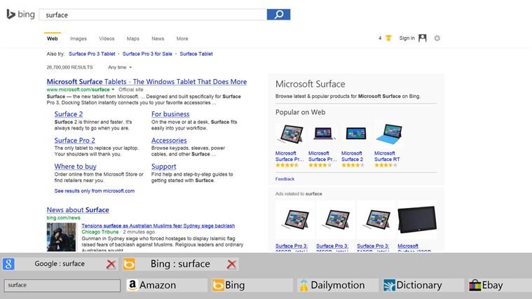 Pan-Search screen shot 1