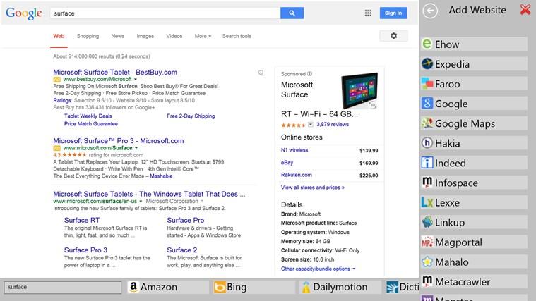 Pan-Search screen shot 5