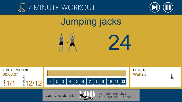 7 Minute Workout screen shot 1