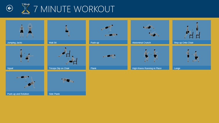 7 Minute Workout screen shot 5