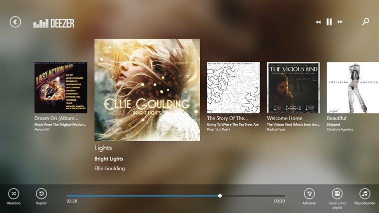 Deezer captura de tela 3