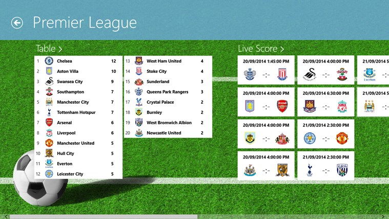 Tile LiveScore screen shot 1
