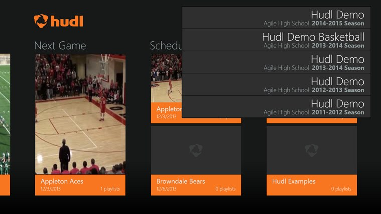 Hudl screen shot 5