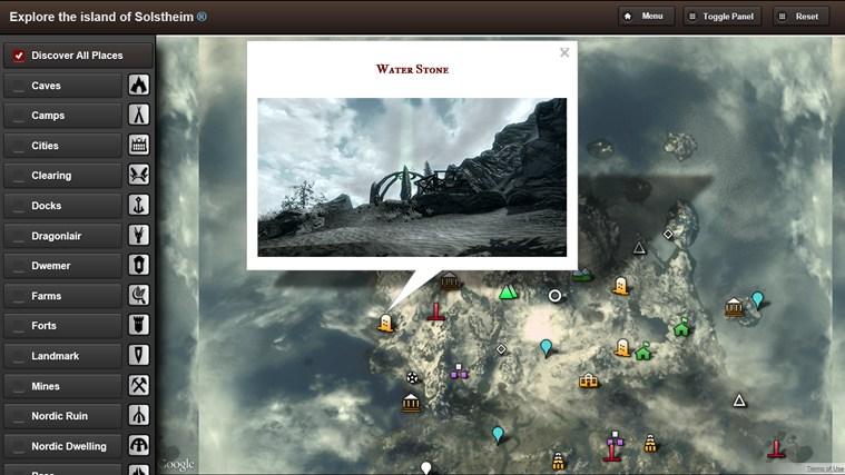 Skyrim Map HD screen shot 5