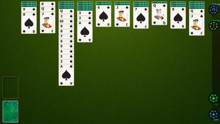 Spider Solitaire HD screen shot 1