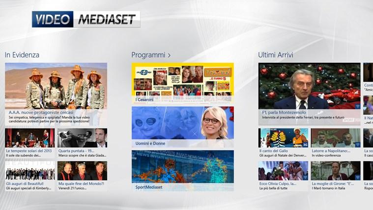 VideoMediaset cattura di schermata 1