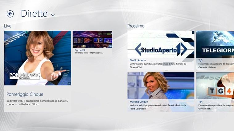 VideoMediaset cattura di schermata 3