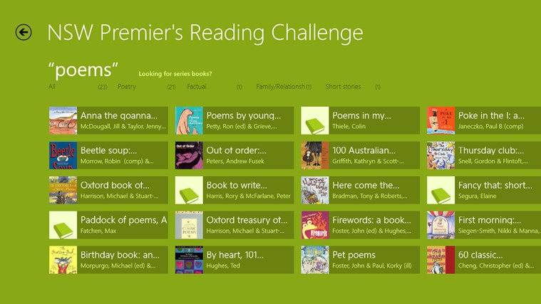 NSW Premier's Reading Challenge Preview screen shot 3