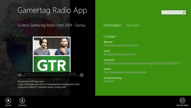 Gamertag Radio App screen shot 1