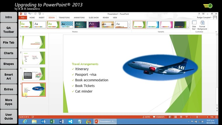 Upgrade to PowerPoint 2013 Tutorials screen shot 5