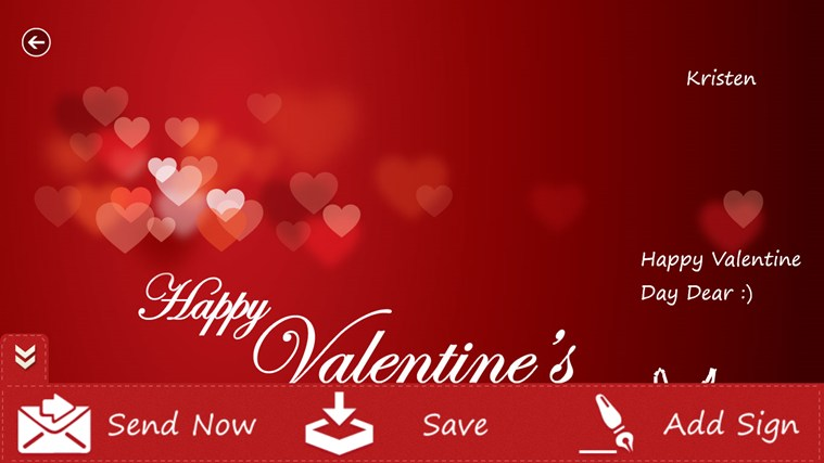 Valentine's Greetings screen shot 3