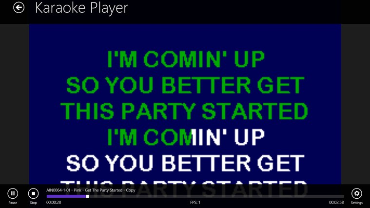 Karaoke Player screenshot 1