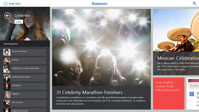 Answers.com screen shot 3