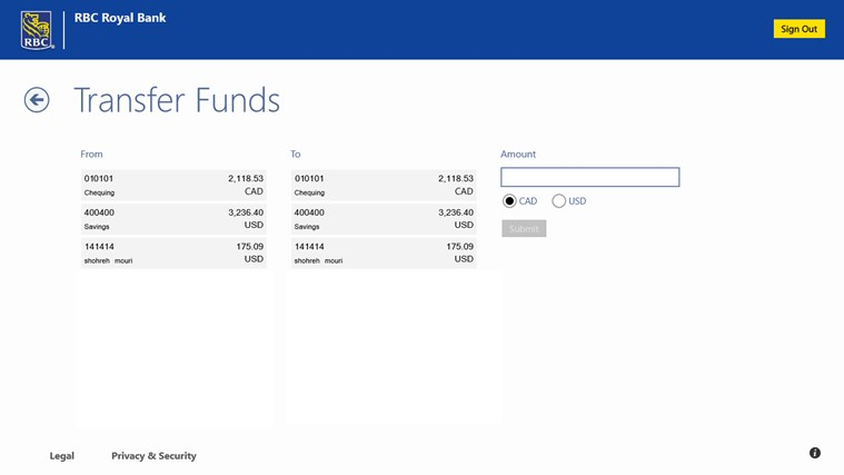 RBC Canada screen shot 3