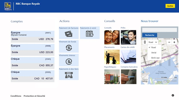RBC Canada capture d'écran 1