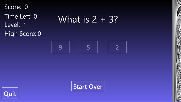 Math Flash - Addition screen shot 1