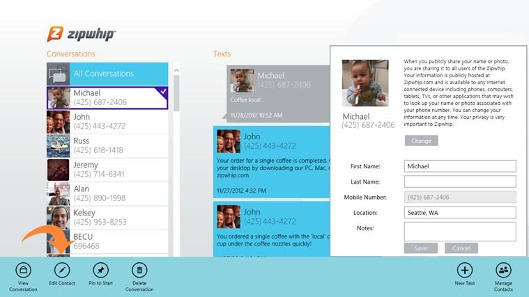 Zipwhip - Text Messaging screen shot 3