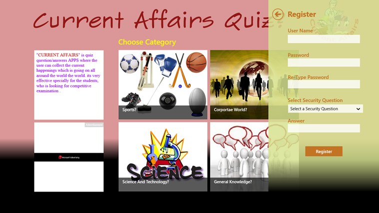 Current Affairs Quiz(Quizzical Apps) screen shot 1