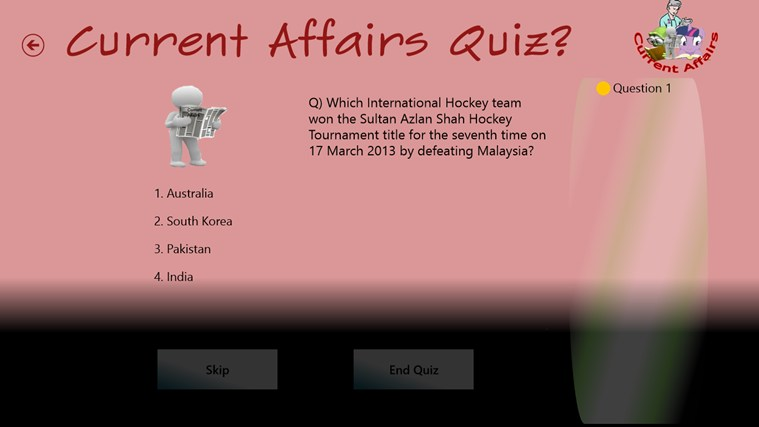 Current Affairs Quiz(Quizzical Apps) screen shot 3