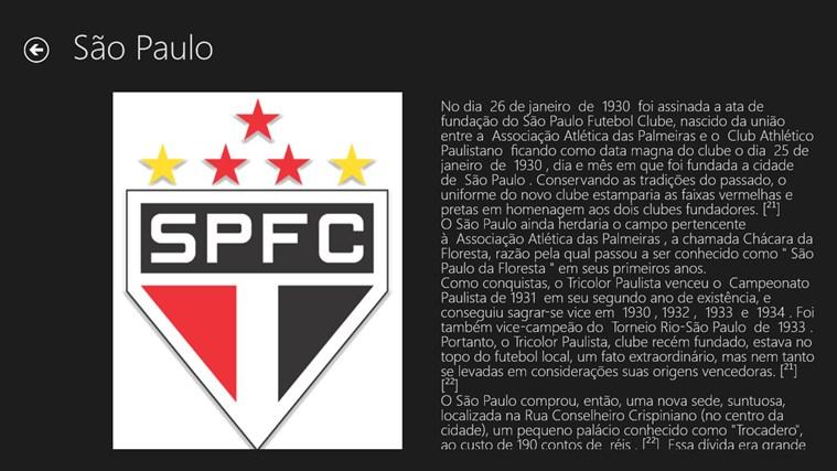 Historia dos principais clubes paulistas screen shot 1
