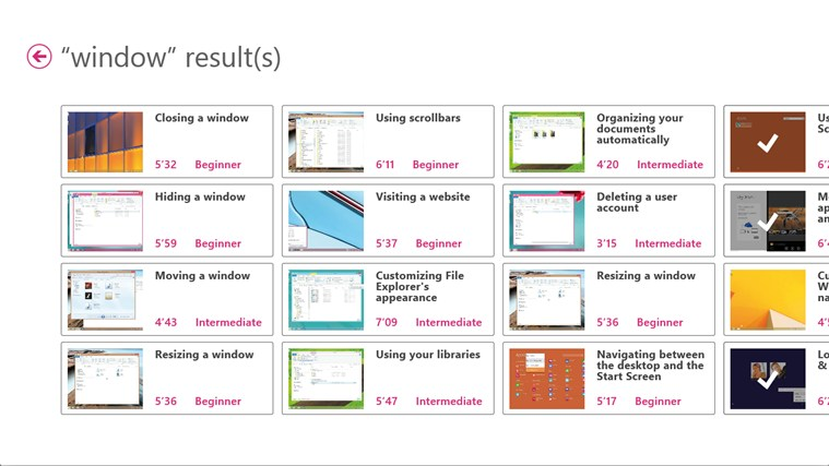 Training for Windows 8 by Vodeclic screen shot 5