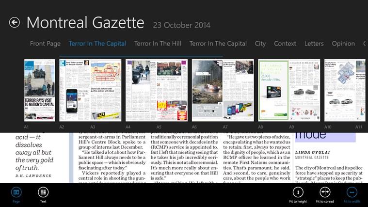 Montreal Gazette ePaper capture d'écran 3