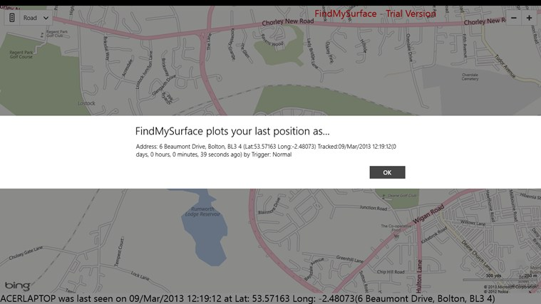 FindMySurface screen shot 1