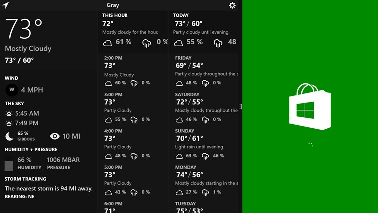 Atmosphere Weather screen shot 3