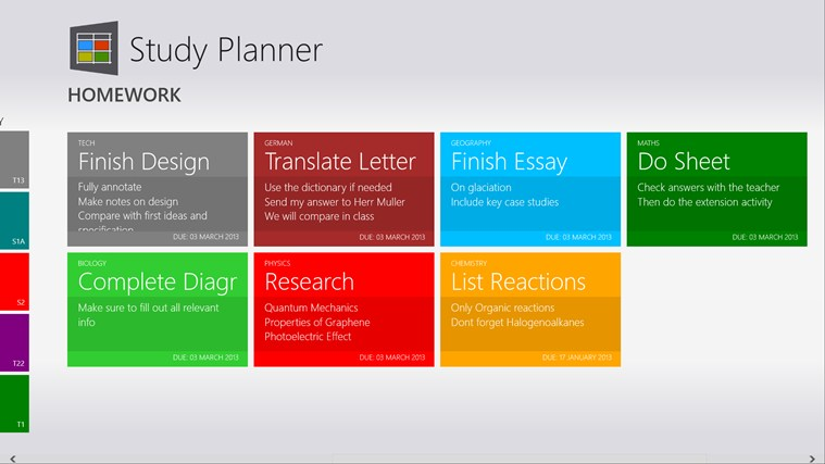 Study Planner screen shot 1