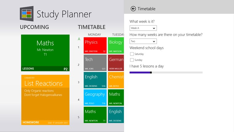 Study Planner screen shot 3