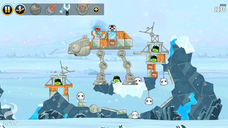 Angry Birds Star Wars captura de pantalla 1