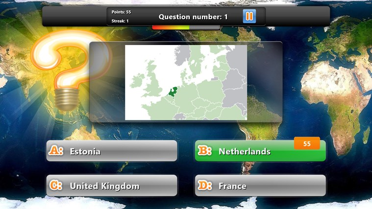 Geography Quiz Game screen shot 1