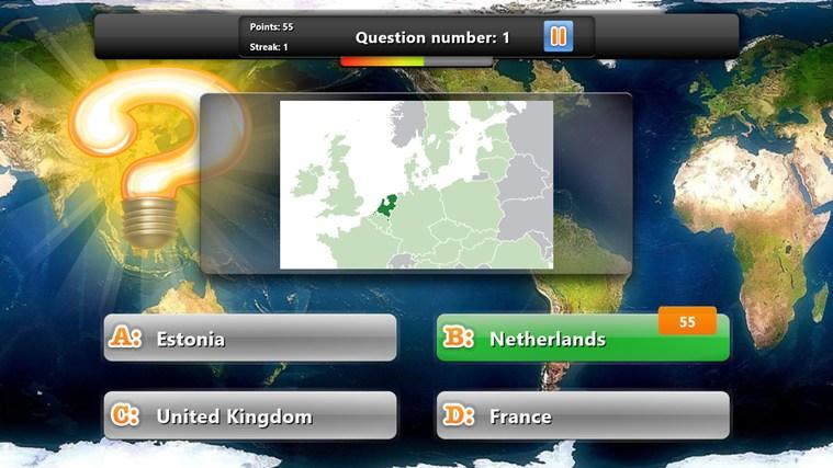 Geography Quiz Game screen shot 1