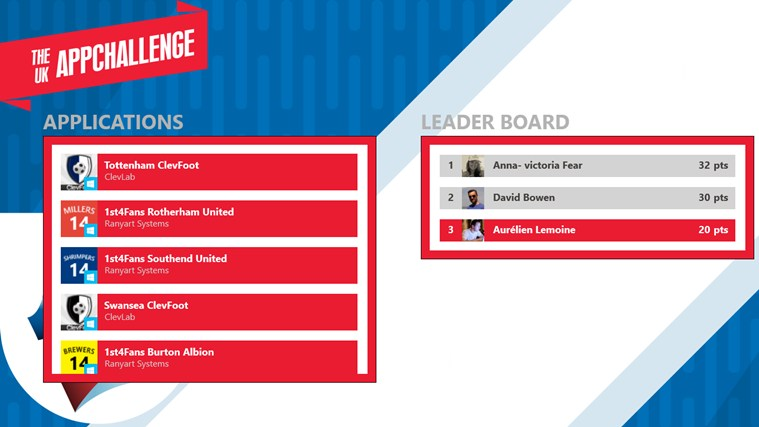 The UK AppChallenge screen shot 1