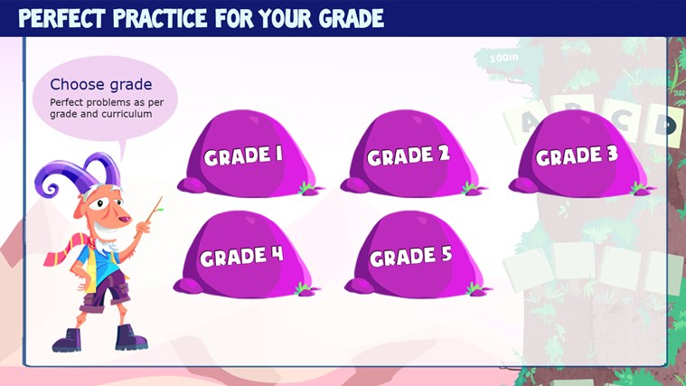 Math Games for Kids Grade 1 to 5 - Addition Subtraction Multiplication Numbers Fractions Geometry Measurement Practice with Mathaly screen shot 1