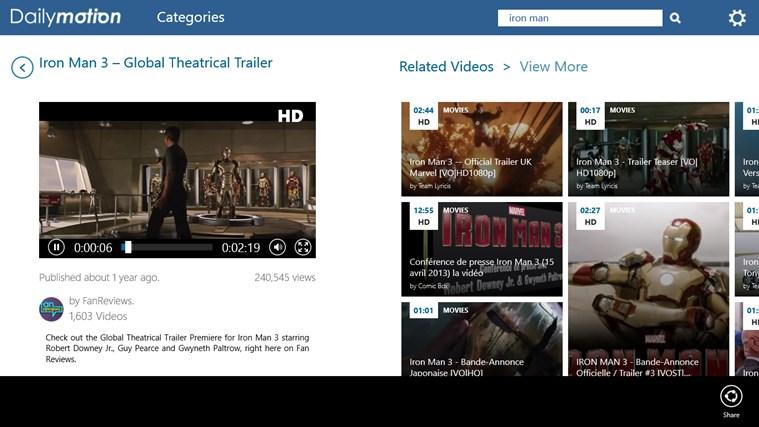 Dailymotion screen shot 3
