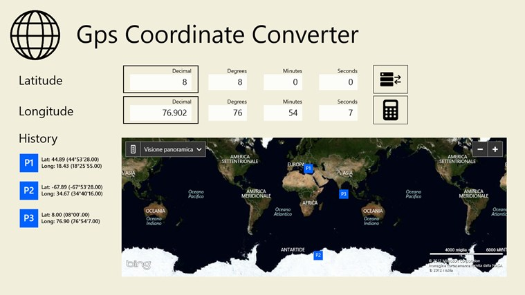 Gps Coordinate Converter screen shot 1