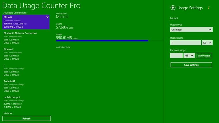 Data Usage Counter Pro screen shot 5