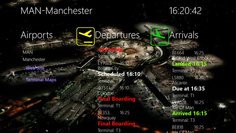APPA Flight Info screen shot 1