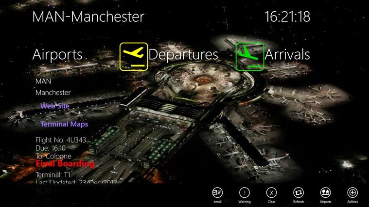 APPA Flight Info screen shot 3