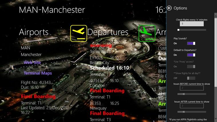 APPA Flight Info screen shot 5