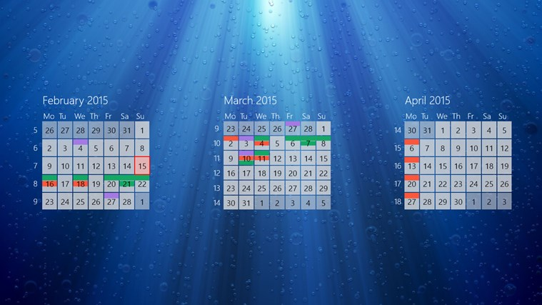 One Calendar screen shot 3