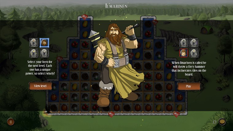 Heroes of Kalevala screen shot 1