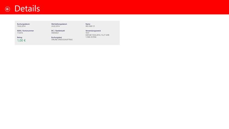 Sparkasse Screenshot 3