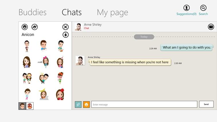 ChatON screen shot 1