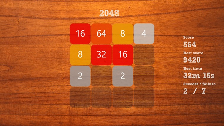 """2048"" screen shot 1"