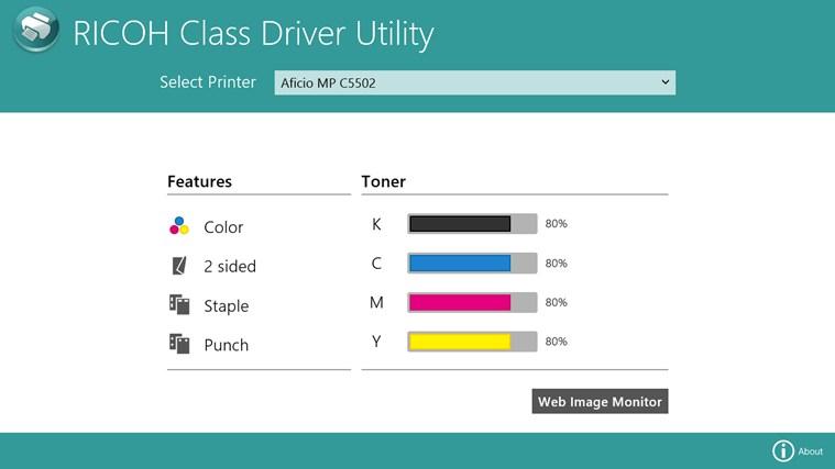 RICOH Class Driver Utility screen shot 5