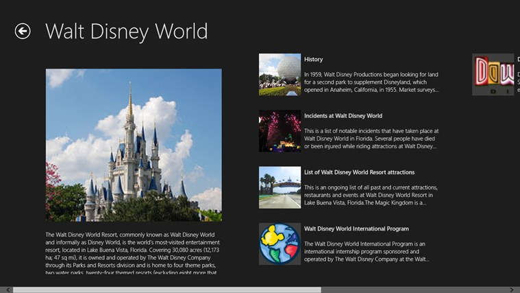 WALT DISNEY WORLD Screenshot 1