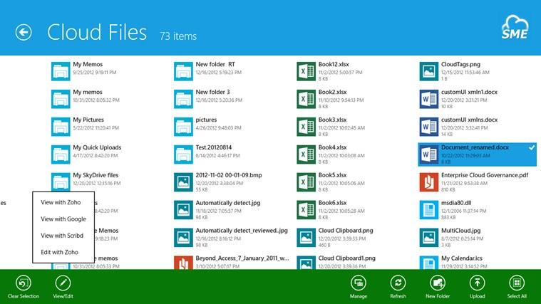 Cloud File Explorer screen shot 7