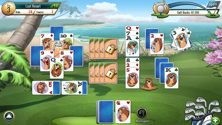 Fairway Solitaire by Big Fish screen shot 1